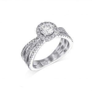 Be Mine Diamond Ring - White
