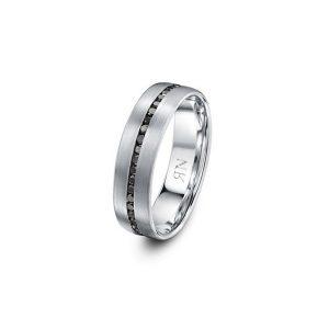 My Men Black diamonds Ring