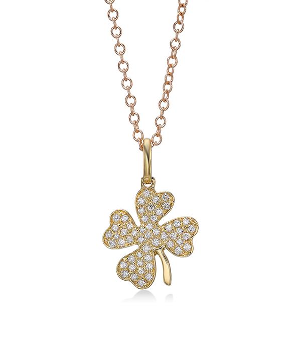 Lucky Clover Diamond Necklace