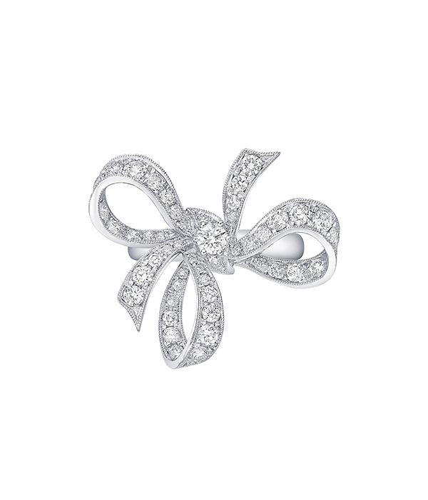 טבעת יהלומים פפיון Ribon