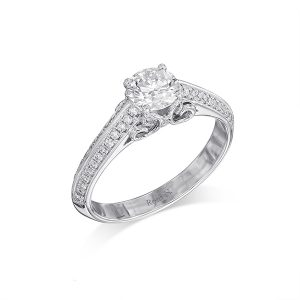 טבעת אירוסין מעוצבת יהלום