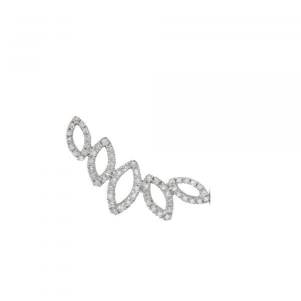 עגיל יהלומים עיצוב שונה ומיוחד