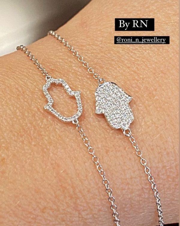 צמיד חמסה יהלומים חנות תכשיטים נווה צדק