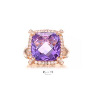 טבעת יהלומים ואבני חן מעצבת תכשיטים נווה צדק