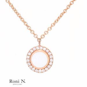 שרשרת יהלומים בזהב וורוד מעצבת תכשיטים בנווה צדק